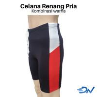 Celana renang pria pendek jumbo | celana renang laki-laki - Putih Merah, M