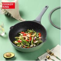 Cooker King Deep Fry Pan Green 32 Cm