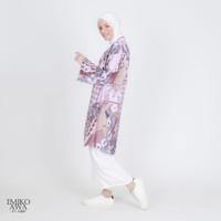 Outer Panjang Newbeat - Emikoawa Vest Cardigan Premium - Purple