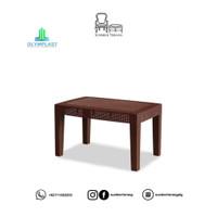 Meja Tamu Coffee Table Teras Rotan Anyaman OST-R / Meja Plastik