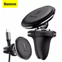 UNIVERSAL MAGNETIC PHONE HOLDER AIR VENT WITH CABLE CLIP BASEUS SUGX