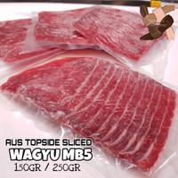 beef wagyu topside slice mb5+ / daging sapi premium wagyu slice mb5+ - 150 gr