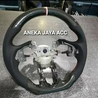 Stir carbon Honda Jazz Gk5 2014 - 2109 kulit Asli original
