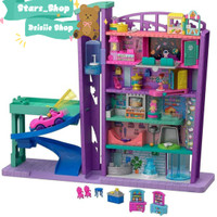 Polly Pocket Mega Mall With Lift / Mainan Koleksi Anak