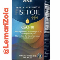 GNC Triple Strength Fish Oil + CoQ-10 New Packaging Direct Import USA