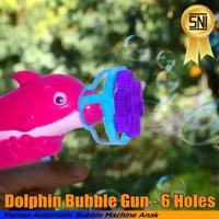 BUBBLE GUN DOLPHIN MAINAN SABUN GELEMBUNG