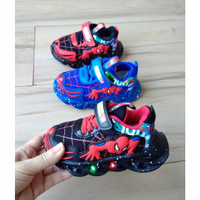 sepatu Spiderman LED anak import