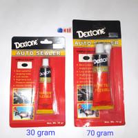 Dextone Auto Sealer Black 30 gr - Lem Kaca Silicone Sealant Hitam