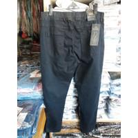 celana jeans wanita panjang karet melar big size jumbo naufel waist