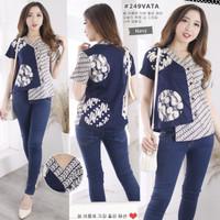 Baju atasan Batik (249VATA) blouse wanita modern terbaru-standart