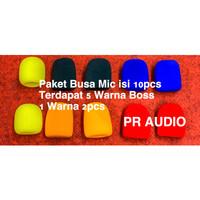 Paket Busa Mic / Busa Microphone isi 10pcs dan 5 Warna Sesuai Foto !!!