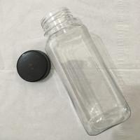 Botol Plastik 250 ml PET Kotak Untuk Kopi, Susu / Jamu