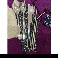 Cutlery Set Sedotan Stainless 304 High Quality + Sendok Garpu Pisau