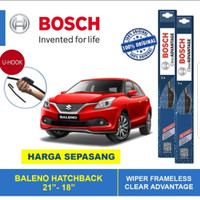 WIPER MOBIL BALENO HATCHBACK 2018 UP ORI BOSCH CLEAR ADVANTAGE 1SET
