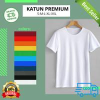 Kaos Polos Atasan Pria Wanita oblong pendek bahan katun Premium - Hitam, S