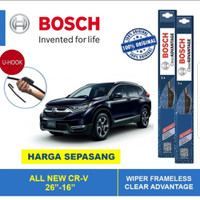 WIPER HONDA CRV TURBO 1 SET ISI 2 ORIGINAL BOSCH CLEAR ADVANTAGE
