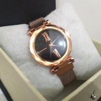 Jam Tangan Fashion Wanita Rose Gold Premium Rantai Magnet