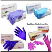 Safeglove Nitrile Gloves isi 100 Non Powder Sarung tangan nitrile