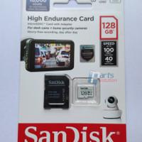 Memory Micro SD Dashcam CCTV SANDISK High Endurance 128GB 100MB/s C10