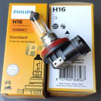 Bohlam Bolam Lampu Kabut Foglamp Standar PHILIPS H16 12V 16W Original