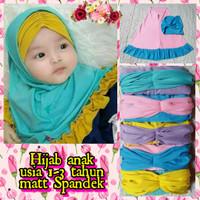 Hijab Aisyah Anak Bayi Perempuan - Kerudung Anak - Jilbab Instan