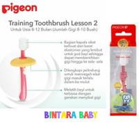 Pigeon Sikat Gigi Bayi Lesson 2 Toothbrush 8-12m