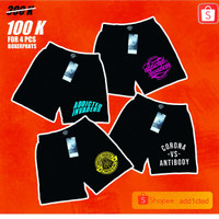 celana boxer pria 100K dapat 4 pcs
