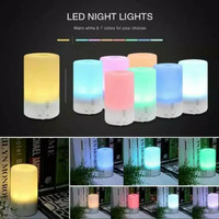 Humidifier Pelembab Udara Tabung 7 Lampu RGB Night Lamp 7 Light RGB