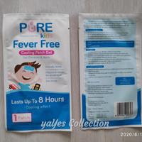 pure fever free 1 lembar kompres demam anak kids cooling patch gel 8 j