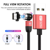 Kabel / Cable Charger / Data Magnetic Fast Charging bisa diputar 360