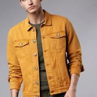 Jaket Jeans Denim Pria Levis Premium Termurah Warna Coklat Kunyit