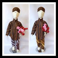 Surjan Lurik Set Blangkon Celana Batik Anak Dan Bayi Cute Baju Dalang