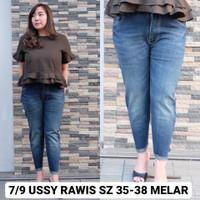 Ussy Rawis 35 36 37 38 Celana Panjang Wanita Jeans Big Size