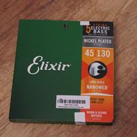 Elixir 14202 5string Nanoweb electric bass string 45-130 nickel plated