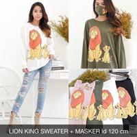 Lion King Sweater Free Masker Jumbo BigSize
