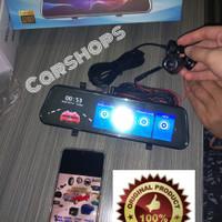 Spion DVR Dual Camera Dashcam Camera CCTV Mobil Spion Touchscreen