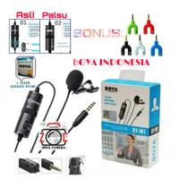 BOYA BY-M1 Lavalier Microphone FREE Splitter + Pouch