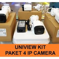 PAKET UNIVIEW 4 IP CAM / CCTV UNV KIT NVR POE 4CH 2M 1080P
