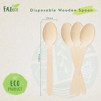 FreEco Disposable Wooden Cutlery Sendok Makan Kayu (Food Grade)