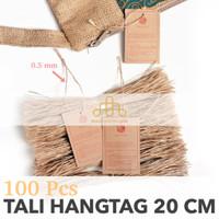 Tali Hangtag Goni - Tali Gantungan Label Baju Distro - String Pin Loop
