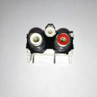 konektor panel rca audio 2 pin 2 kaki