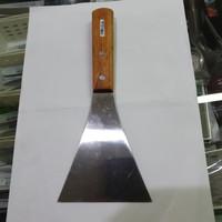 Spatula Scraper Stainless kualitas bagus, lebar 10cm