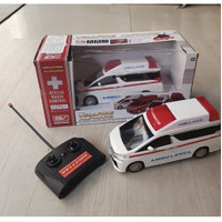 Mainan RC Ambulance Car Remote Control Ambulan Alphard