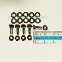 Baut Rak Siku (6x15) + Mur + Double Ring / BAUT 10
