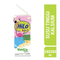 Hilo School Vanila Vegiberi Susu Cair Ready To Drink RTD 200ml / 24pc