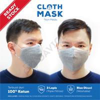 GROSIR SUPER MURAH! Masker Kain 3ply Premium Quality