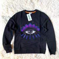 Baju kenzo sweatshirt eye women black purple authentic asli original