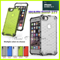 Iphone SE 2020/SE2/7/8 Case Honeycomb Hard Cover Casing Silicone Tpu