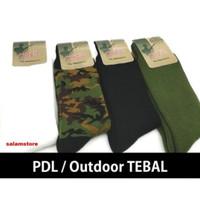 Kaos kaki PDL Tebal Polos Harpist Pria/ Kaos Kaki Outdoor Loreng Army - Hitam