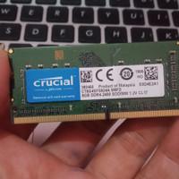Ram laptop ddr4 8gb pc4 2400 2400mhz Crucial